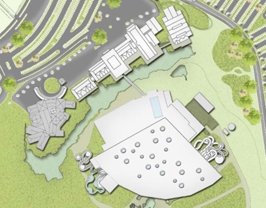 Plan du futur hôtel du parc aquatique