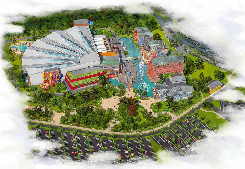 Construction du parc aquatique