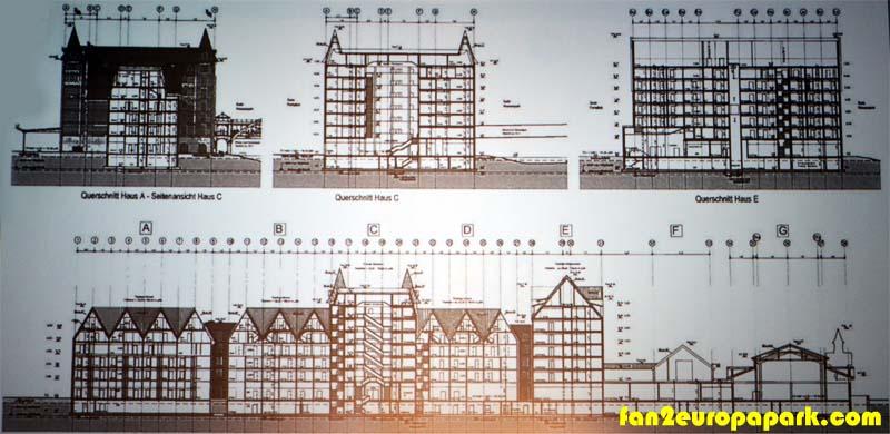 Plans de l'hotel du parc aquatique