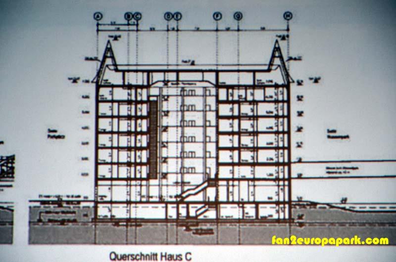 Plan de l'hôtel du parc aquatique