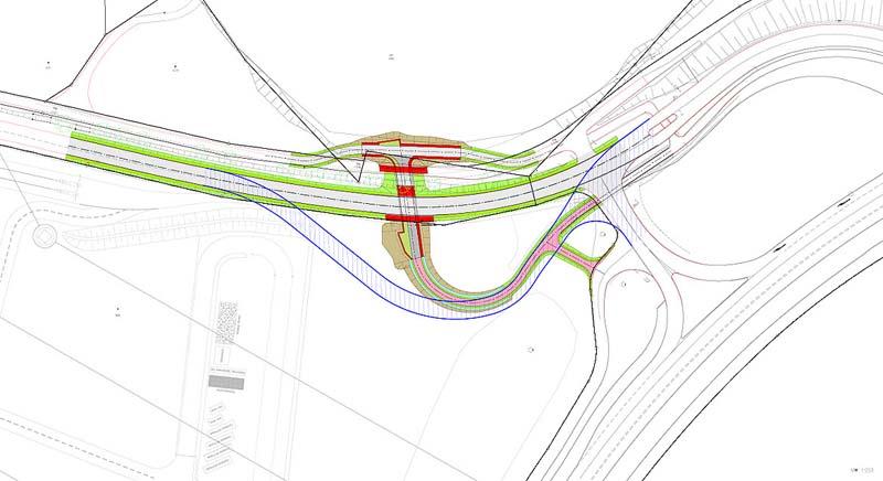 Construction de deux nouveaux giratoires et d'un pont
