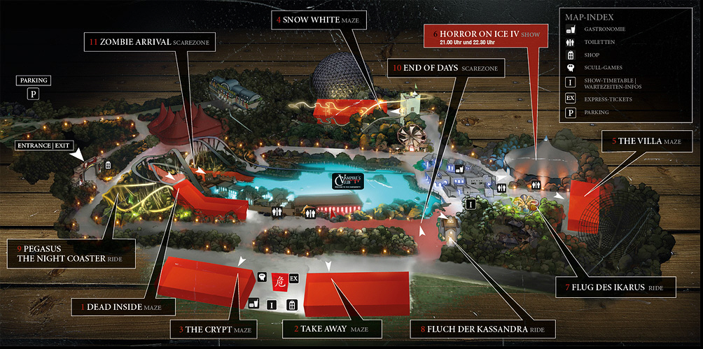 Plan des Horror Nights 2013