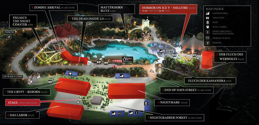 Plan des Horror Nights 2014