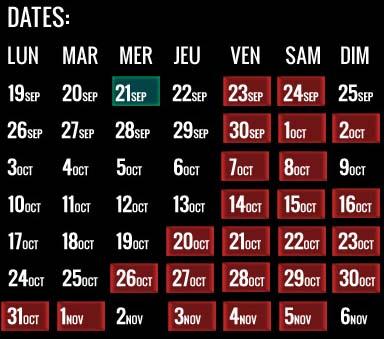 Horror Nights dates 2016