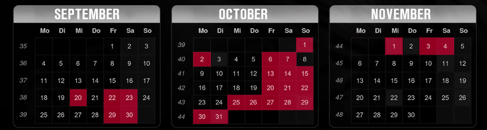 Traumatica dates 2017