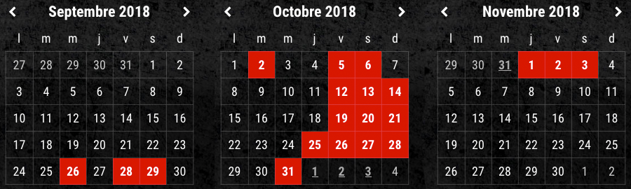 Traumatica dates 2018