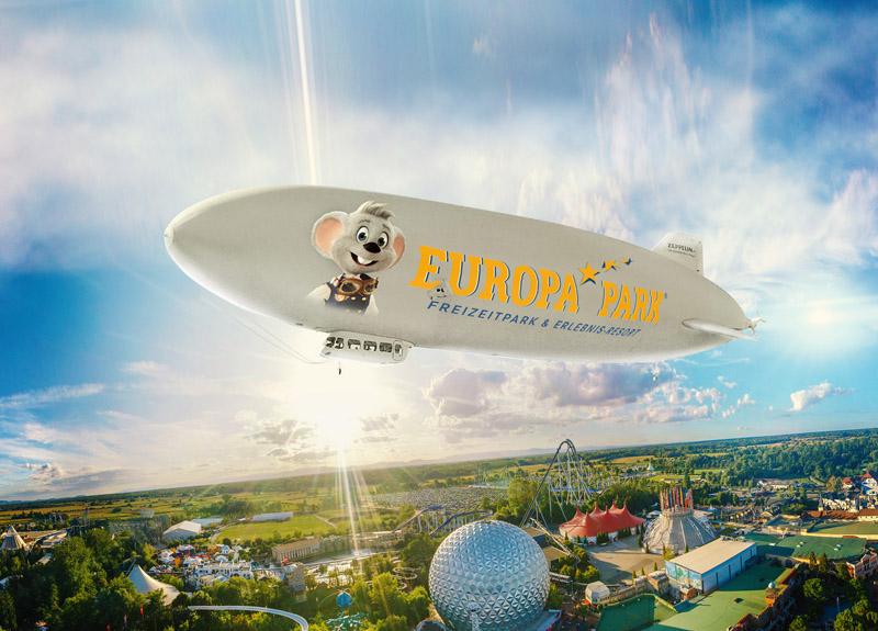 Voyage en Zeppelin au-dessus d'Europa-Park
