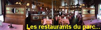 Les restaurants du parc